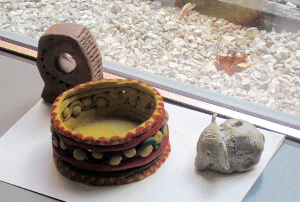 Photo of painted bowl and elephant