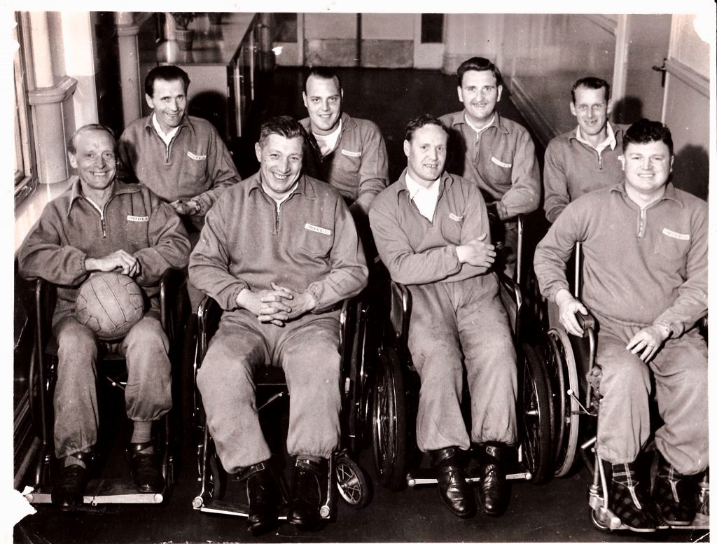 Photo of first Pinderfields team to attend the national games