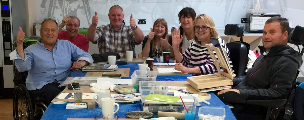 Art@Pinders Group give the thumbs up